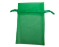 Sheer Organza Pouches 3x4 Hunter Green