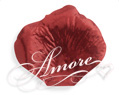 Crimson Red Metallic Red Silk Rose Petals Wedding 1000