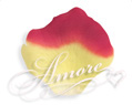 Silk Rose Petals Athena (Yellow and Red)