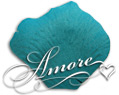 Silk Rose Petals Tiffany Blue-Turquoise