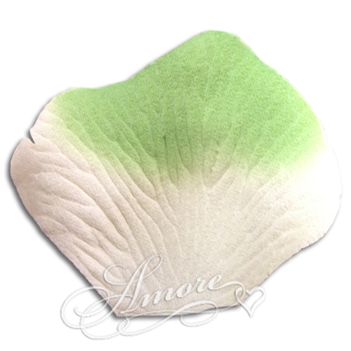 Green Light Ivory Silk Rose Petals Wedding 200