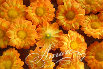 Silk Marigold Flowers 25